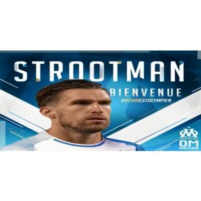 Maillot Domicile Olympique de Marseille Kevin STROOTMAN